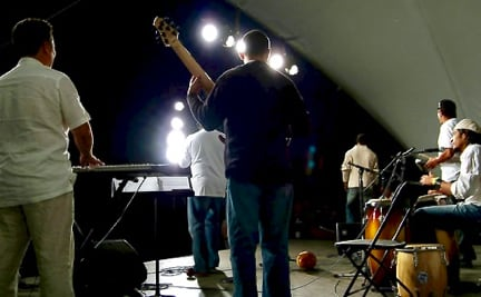 Live Band Performing a Concert